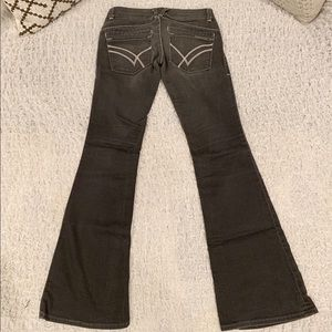 William Rast Savoy Charcoal Gray Flare Jeans